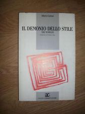 CANTONI - IL DEMONIO DELLO STILE - TRE NOVELLE -ED:CLAUDIO - ANNO:1987 (XR)