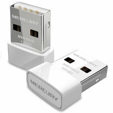 MERCURY Mini 150Mbps WiFi Dongle Wireless USB Adapter 802.11b/g/n Windows 8/7/XP