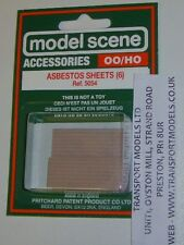 Modelscene Accessories 5054 - Asbestos Sheets x 6 - (00) Railway Models