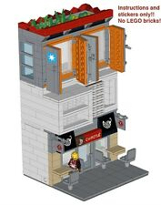 Custom Instructions for LEGO Chipotle Maersk Apartment Modular Stickers