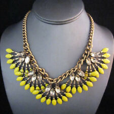 NEW Urban Anthropologie Trica Fringe Fan Yellow Bead Necklace