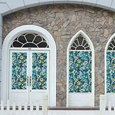 Static Cling Cover Stained Flower Window Glass Film Privacy Home Decor 45*100cm