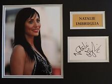 NATALIE IMBRUGLIA - MUSIC & TV STAR- XMAS OFFER SIGNED DISPLAY - COA - IN-PERSON