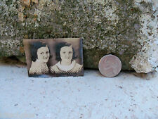 Vtg Photo Booth Quirky Little Girl Proofs Twins? 30's 40's