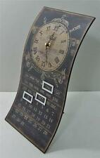 Metal Antique Style French Country Perpetual Calendar & Clock Desktop Tabletop