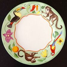LYNN CHASE porcelain salad plate MONKEY BUSINESS