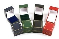 100 Luxury Leatherette Ring Boxes - Colour Choice