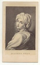 Italian Noblewoman BEATRICE CENCI, Guido Reni Antique CDV Carte de Visite Photo