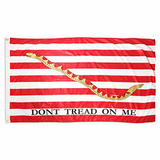 3x5 First Navy Jack Don't Tread on me 110D Flag Tea Party 3'x5' Banner