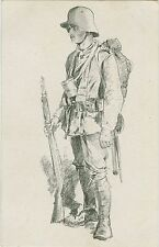 German WW1 Postcard Verdun 1916 By Alb. Reich Soldier One Of Verdun (327)