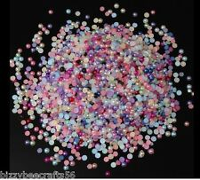 15 GRM 4.5 MM FLATBACK ACRYLIC RHINESTONE PEARL BEADS CRAFTS,NAIL ART,PHONES