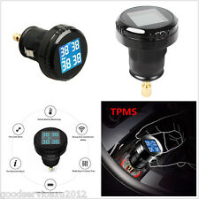 DC12V Wireless Car TPMS Tire Tyre Pressure Monitor System 4 External Sensors Kit