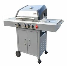 Swiss A-3 Arosa 3 burner grill w/Wok, SS Grill Brush and cover