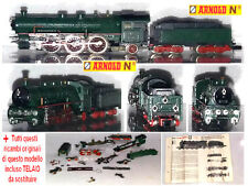 ARNOLD 0253 VINTAGE LOCOMOTIVA A VAPORE BR18 S 3/6 +KIT RICAMBI COMPLETO SCALA-N