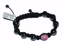 Shambala Friendship Bracelets Hematite Crystal Disco Ball Bead - BRAND NEW