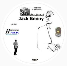 BEST OF JACK BENNY - 763 Shows Old Time Radio In MP3 Format OTR On 2 DVDs