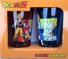 Dragon Ball Dragonball Z Cups Pint Glasses Set 16 oz NIB