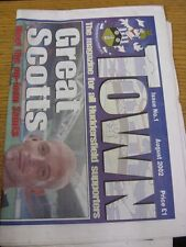 """Aug-2002 Huddersfield Town: Issue 01 - """"Town"""" The Magazine/Newspaper For All Hud"""