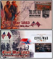 NEW 2013 Civil War 1863 A Nation Touched By Fire FDC w/DCP & Pictorial Cancels