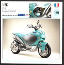 1991 MBK ET 50cc European Transport Motobecane Yamaha Scooter Moped Photo Card