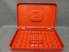 Orange Wilson Wil-Hold Sewing Case Box Bobbins Thread 48 Spool Storage/Organizer