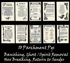 Banish Hex Curse Ghosts Spirits 10pgs Spells Posters Wicca Pagan Book of Shadows