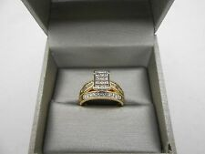 $2999 ZALES 14k Yellow Gold 1ct Princess Cut Engagement Style Diamond Ring Sz 9