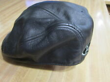 Vintage Harley Davidson Black Leather Stroker Cap