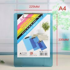 A4 Plastic Document File Clipboard Metal Clip Thick Paper Writing Hard Pad Board