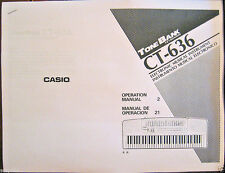 Owner's User's Operating Manual for Casio CT-636 or CT-638 Tone Bank Keyboard