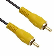 15M 45Ft Single 1-RCA M to M Composite MALE Video Cable Gold 1RCA TV,Projector