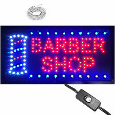 "Bright Animated LED Barber Shop Open Sign 19x10""  Beauty Salon SPA Display neon"