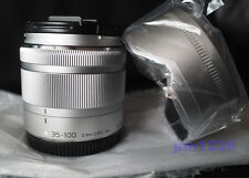 NEW PANASONIC LUMIX G Vario 35-100mm F4.0-5.6 ASPH Lens Silver Micro 4/3 Camera