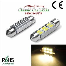 6 Volt WARM WHITE 36MM FESTOON LED BULB CLASSIC CAR MOTORBIKE SCOOTER GLB239