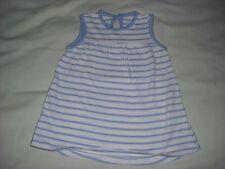 George baby girls blue white stripe jersey dress 0-3 months spring summer