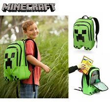 Minecraft Creeper Backpack New School Bag Sports Mindcraft Mine Craft Plush