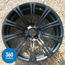 "1 x GENUINE BMW M3 19"" 220 M SPORT DUAL SPOKE FRONT 8.5J ALLOY WHEEL SATIN BLACK"