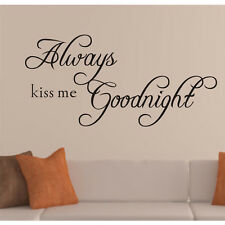 Home decor creative quote wall decals decorative removable vinyl wall stickers