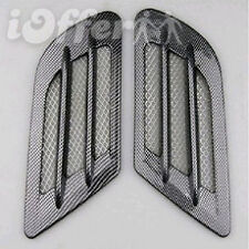 Side Vent Air Flow Fender Mesh Sticker Shark Port Holes Racing Carbon