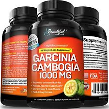 Garcinia Cambogia (10x Flat Tummy Diet Pills) 100% Pure Extract | Natural Wei..!