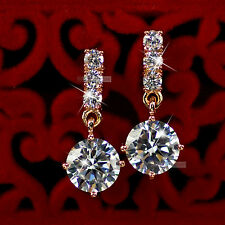 18k rose gold gp genuine SWAROVSKI crystal stud earrings dangle