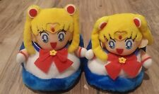 Vintage Official Sailor Moon Plush Doll Slippers  Banpresto RARE UFO PRIZE ONLY