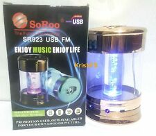 SoRoo Glass LED Speaker- Mp3 Player Supports USB Pen Drive/Memory Card,FM Radio