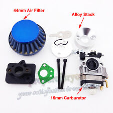 Gas Carburetor 15mm Air Filter Stack Inake For 33cc 43cc 49cc Goped Scooter EVO