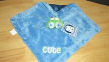 Gerber blue green car CUTE plush velour security blanket satin back NWT