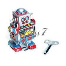 Wind Up Little Space Robot Tin Toy Lovely Kids Metal Mini Robot Practical