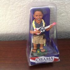 "NEW Hawaiian PRESIDENT OBAMA Dashboard  Bobble Head Doll w/ Ukulele 4"" #40667"