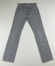 Women's SEVEN FOR ALL MANKIND Gray Checkered Mid Rise Slimmy Jeans Size 29