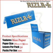 Rizla Blue Regular/Standard Size Cigarette Rolling Papers - One Full New Box