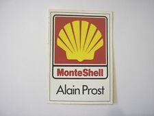 ADESIVO AUTO F1 anni '90 / Old Sticker ALAIN PROST MONTE SHELL (cm 7 x 10)